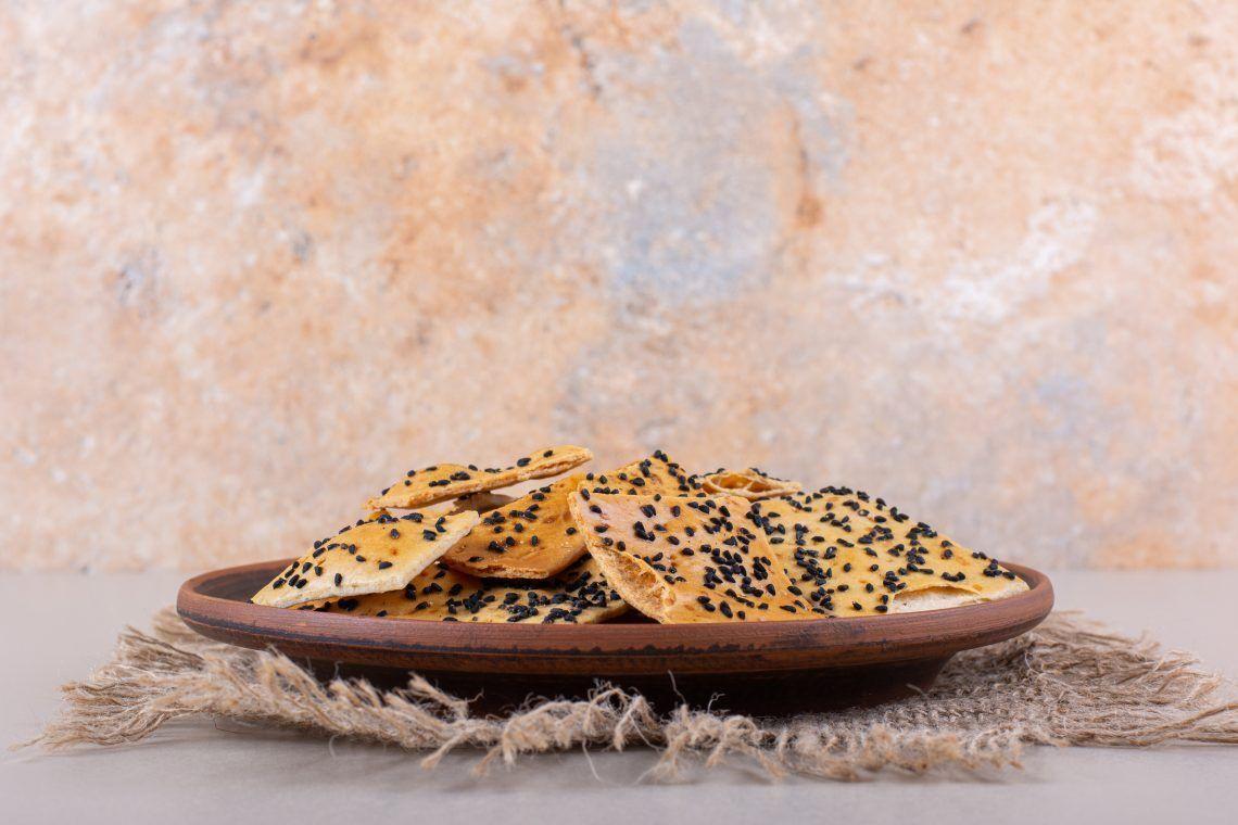 pasabocas de queso y semillas