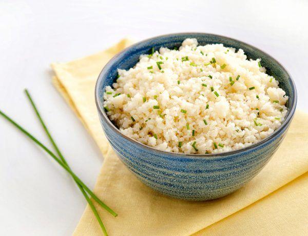 receta básica de arroz de coliflor keto