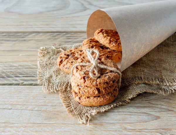 galletas de coco keto con nibs de cacao